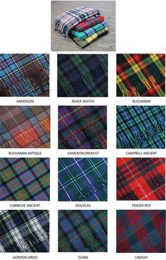 Scottish Tartan Blankets - Clan Tartans each representative of a Clan family. Scottish Plaid, Scottish Tartans, Scottish Outfit, Christophe Lambert, Men In Kilts, Scotland Travel, Edinburgh Scotland, Harris Tweed, Up Girl