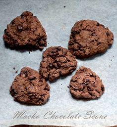 Vegan Mocha Chocolate Chip Scones | Peaceful Dumpling