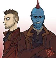 Yondu and Kraglin by PatBanzer! Poor Kraglin, he's put up with Yondu for so long XD
