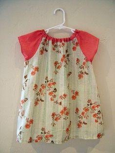Pretty Red Vintage Flower Dress