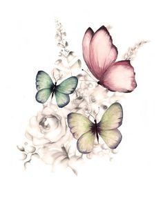 Butterfly Drawing, Butterfly Flowers, Flower Art, Butterflies, Blue Butterfly, Tribal Butterfly Tattoo, Simple Butterfly, Butterfly Wall Decor, Butterfly Wallpaper