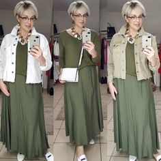 Mature Women Fashion, Over 50 Womens Fashion, Fashion Over 50, Mom Outfits, Modest Outfits, Cute Outfits, Abaya Fashion, Boho Fashion, Fashion Looks