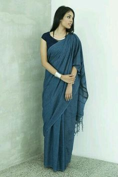 Denim - Delivery of this item from Sep - Order Now – Fashion Market. Ethnic Sarees, Indian Sarees, Indian Attire, Indian Ethnic Wear, Ethnic Fashion, Indian Fashion, Indian Dresses, Indian Outfits, Saree Jackets