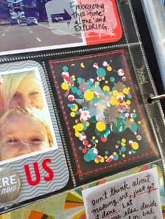 Project Life 2013 | Week One. Handmade confetti pockets, available at www.polkadotcreative.com.au