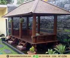 This excellent small gazebo is a quite inspirational and extraordinary idea Pergola, Backyard Gazebo, Garden Gazebo, Backyard Retreat, Backyard For Kids, Backyard Landscaping, Bali Garden, Landscaping Ideas, House Fence Design