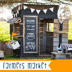Our Farmers Market cubby is our way of celebrating everything natural and good about childhood. Encouraging healthy imaginative play mimicking the market