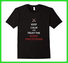 Mens Nurse Practitioner T-shirt - Keep calm and trust the Nurse  XL Black - Careers professions shirts (*Amazon Partner-Link)