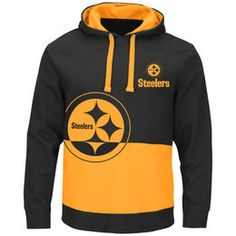 f726743eb Men s Pittsburgh Steelers Majestic Black Coin Toss Pullover Hoodie