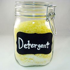 Make your own detergent to save money.