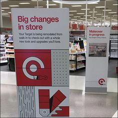 This Store Changes Double Play Signs repetition drives home the point. Store construction and reconstruction is underway though well-nigh invisible. Store Signage, Retail Signage, Construction Signs, Under Construction, Double Play, Google Images, Change, Marketing, Target