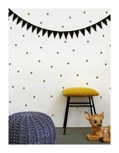 Gold dots wall decals dots wall stickers polka dot by tayostudio