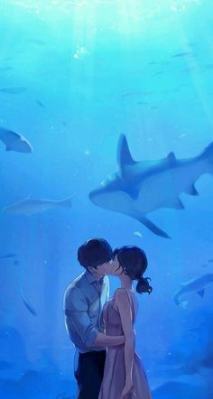 ImageFind images and videos about art, couple and anime on We Heart It - the app to get lost in what you love. Couple Manga, Cute Couple Art, Anime Love Couple, Japon Illustration, Love Illustration, Wallpaper Animes, Art Mignon, Couple Drawings, Anime Scenery