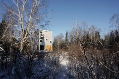 DIN projects pole house manitoba designboom