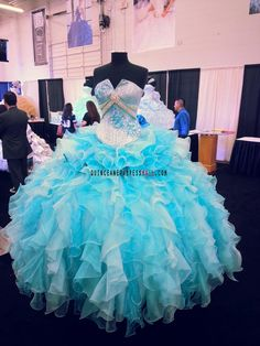 Turquoise and baby blue crystal beaded organza ruffles new 2015 quinceanera dress sweet 15 ball gown_Our Quinceanera dresses_Quinceanera Dresses 2015,sweet 15 dresses 2015,Dama Dresses 2015,Little Girl Pageant Dresses 2015,Tutu dress 2015,New Style Quinceanera Dresses 2015 on Quinceaneradressmall.com