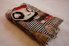 Fabulous recycled fabric journal by BabyLux