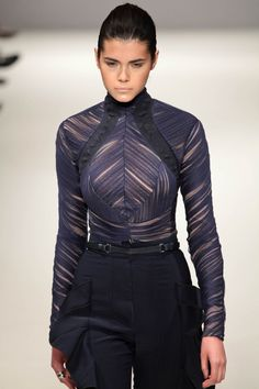Fyodor Golan F/W 2011, future fashion, futuristic girl, black clothing, futuristic clothing, futuristic style.