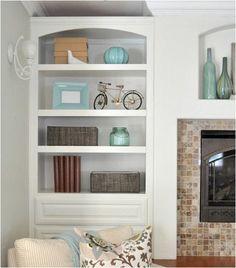 pretty display shelves not overdone