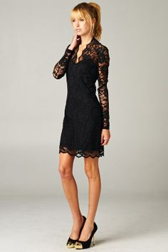 Grace Dress in Black Lace | Awesome Selection of Chic Fashion Jewelry | Emma Stine Limited