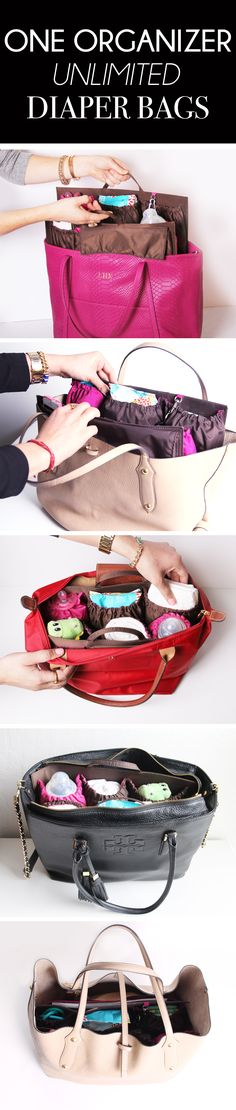 Carry your favorite handbag as a diaper bag with ToteSavvy! The best organizer that turns any tote into a diaper bag. www.lifeinplaycompany.com