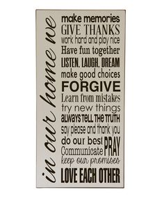 Look what I found on #zulily! Cream & Brown 'In Our Home' Wall Art by Vinyl Crafts #zulilyfinds