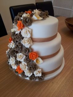 weding cake by sandrs1962 on Cake Central