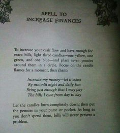 Spell to Increase Finances