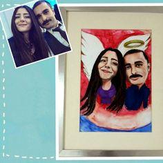 Sevdiklerinize karikatürize edilmiş hayatlar hediye etmek için instagram/@doryanart
