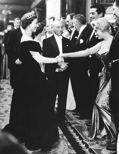 Marilyn dressing demurely and appropriately to meet the Queen of England--*MARILYN MONROE ~ meeting Queen Elizabeth II