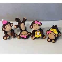 Custom Monkey Cake Topper for Birthday or Baby Shower Plus