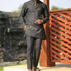 "Black african outfit for men #handmade #bespoke #kaftanking #naijatailors #madeinghana #instabusiness #instagood #ghanamenkillingit #meninstyle"" • Oct 18, 2020 at 10:00am UT African Clothing For Men, African Men Fashion, Mens Fashion, Ghana, Kaftan, Bespoke, Suit, Pants, Handmade"