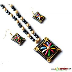 390 - Hand Made Crafts - Buy & Sell Indian Handmade Crafts and Handmade terracotta, dokra Jewelry and Gifts Teracotta Jewellery, Terracotta Jewellery Designs, Funky Jewelry, Handmade Crafts, Jewelery, Polymer Clay, Fashion Jewelry, Jewelry Design, Jewelry Making
