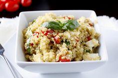 Caprese Quinoa Salad - high protein lunch
