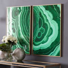 Malachite Wall Art – Verdigris