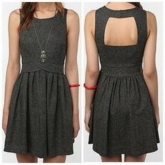 Cooperative Backless Tweed Dress #UrbanOutfitters