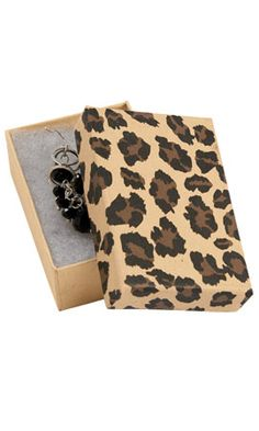 Leopard Brown Jewelry Box with Cotton Marketing Products, Store Supply, Jewelry Box, Brown, Cotton, Jewellery Box, Jewel Box, Brown Colors, Casket