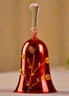 Classic Red Glass Dinner Bell