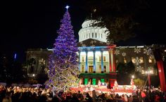 The 77th Capitol Christmas Tree Lighting Ceremony in Sacramento, California