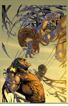 Witchblade vs Wolverine by Eric Basaldua