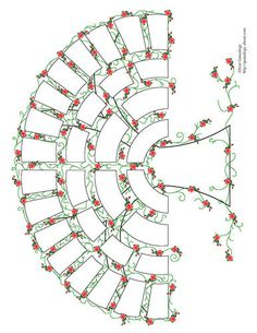 Free Five Generation family tree fan chart with roses