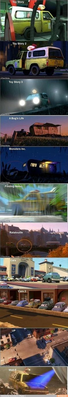 Disney: The yellow Pizza Planet truck is in so many of the movies!