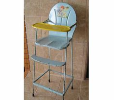 Doll Sized Tin Toy Highchair  FREE Shipping by KweenBee on Etsy, $65.00