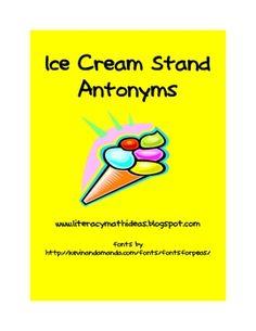 Ice Cream Stand Antonyms:  Free Antonym Game