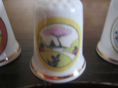 Clarice Cliff style thimble By Chris Rogers.