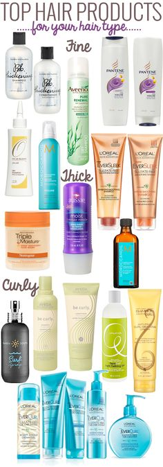 Top Hair Products for Your Hair Type