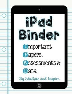 Freebie! This product was designed to be a cover for your students' data and communication binders. My students keep these binders in their desks and take them home on a regular basis to show off their work to their parents. I buy the binders with a clear front pocket and slide in a cover page. This freebie includes 10 cover page options!
