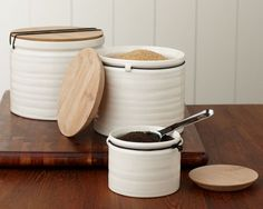 Canister Set from Williams Sonoma.....I really want these!