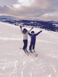 Young skiing happiness