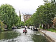 Beautiful view of Regent's Canal in North London