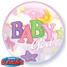 Helium geboorte ballon meisje. Kraamfeest? Bij Fun en Feest vind je de leukste geboorte versiering en decoratie.