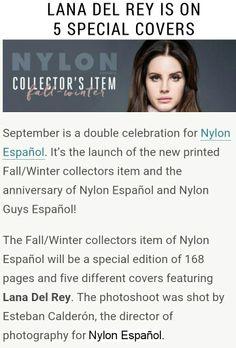Lana Del Rey's Nylon Español covers will be available to purchase! Pre-order here https://www.kichink.com/stores/nylonespanol?byp455=true#.VeihgNRVikp